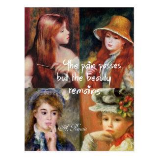 Cartão Postal Arte, beleza e amor em pinturas de Renoir