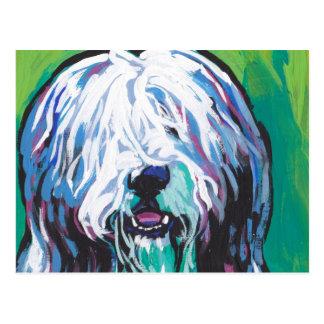 Cartão Postal Arte colorida brilhante do cão do pop do collie