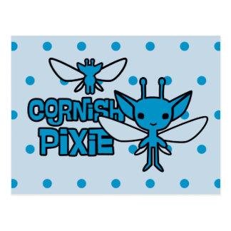 Cartão Postal Arte Cornish do caráter do duende dos desenhos