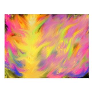 Cartão Postal Arte cristã do culto das chamas coloridas