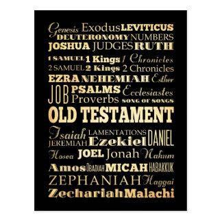 Cartão Postal Arte cristã - livros do testamento velho