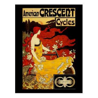 Cartão Postal Arte da bicicleta de Frederick Winthrop Ramsdell