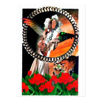 Cartão Postal Arte da fantasia de CricketDiane da princesa e do