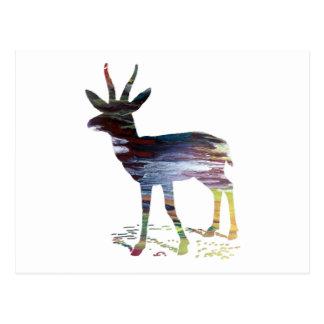 Cartão Postal Arte da gazela
