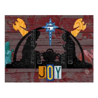 Cartão Postal Arte da matrícula do feriado do Natal da cena da