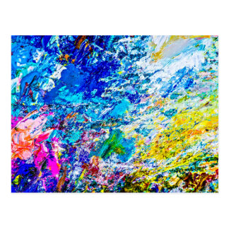Cartão Postal Arte da paleta de cores