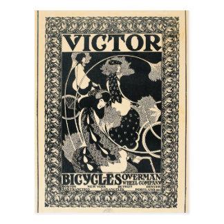 Cartão Postal Arte da propaganda da bicicleta de Nouveau da arte