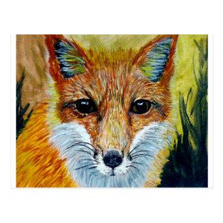 Cartão Postal arte da raposa do fSmart