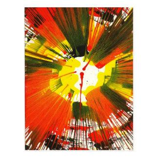Cartão Postal Arte da rotação das cores da queda do por do sol