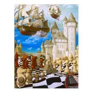 Cartão Postal Arte da xadrez surreal