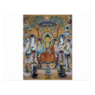 Cartão Postal Arte das cavernas de Dunhuang Mogao de Buddha e de