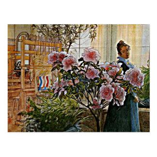 Cartão Postal Arte de Carl Larsson: Azálea
