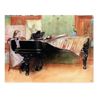 Cartão Postal Arte de Carl Larsson: Jogando escalas