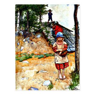 Cartão Postal Arte de Carl Larsson: Pela adega
