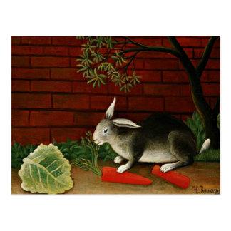 Cartão Postal Arte de Henri Rousseau: Coelho