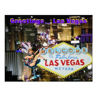 Cartão Postal Arte de Las Vegas Boulevard e de artista