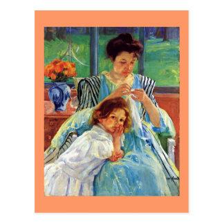 Cartão Postal Arte de Mary Cassatt: Mãe nova, pintura de Cassatt