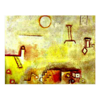 Cartão Postal Arte de Paul Klee: Reconstruir
