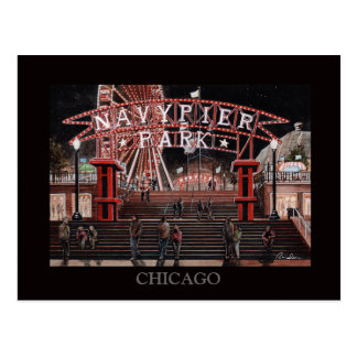 Cartão Postal Arte de Randsom da coleção de Chicago do cais do