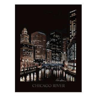 Cartão Postal Arte de Randsom das belas artes de Chicago River