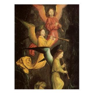 Cartão Postal Arte de renascimento, coro dos anjos por Simon