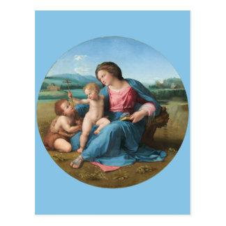Cartão Postal Arte de renascimento Madonna alba de Raphael