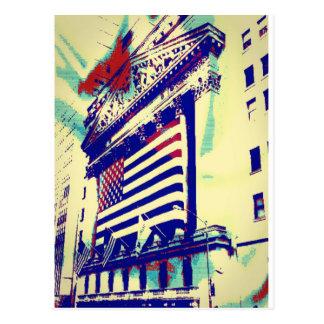 Cartão Postal Arte de Wall Street