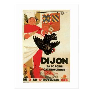 Cartão Postal Arte do anúncio da comida do vintage da galinha de