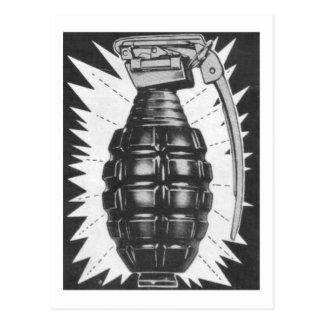 Cartão Postal Arte do anúncio da granada de mão do brinquedo do