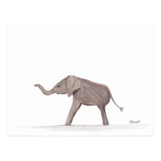 Cartão Postal Arte do berçário do animal selvagem do elefante do