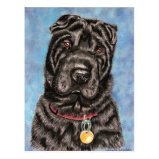Cartão Postal Arte do cão de Shar-Pei do chinês - Tia
