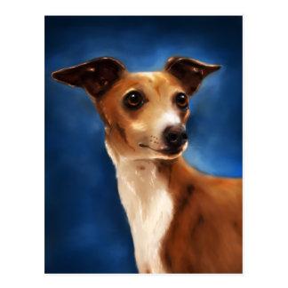 Cartão Postal Arte do cão do galgo italiano - Magnifico