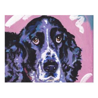 Cartão Postal arte do cão do pop do spaniel de springer