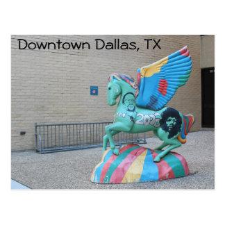 Cartão Postal Arte do centro de Dallas Texas