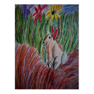 Cartão Postal arte do coelho