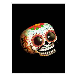 Cartão Postal Arte do crânio de Diâmetro de Los Muertos Açúcar