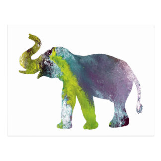 Cartão Postal Arte do elefante