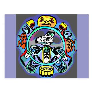 Cartão Postal Arte do Haida