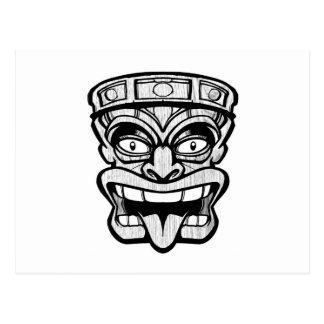 Cartão Postal arte do hawaiian da máscara do tiki