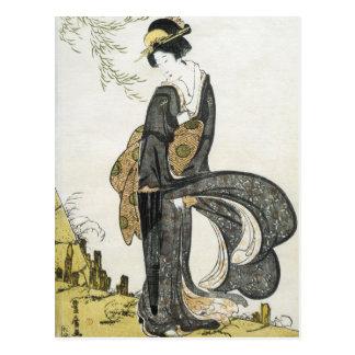 Cartão Postal Arte do japonês do vintage