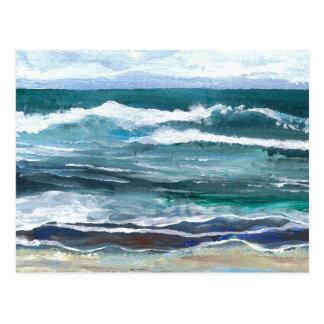 Cartão Postal Arte do mar do grilo - oceano de CricketDiane