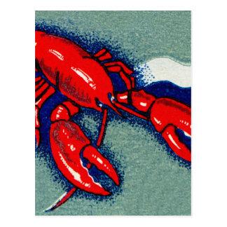 Cartão Postal Arte do Matchbook das lagostas da lagosta do
