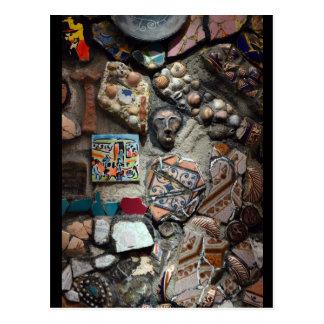 Cartão Postal Arte do mosaico