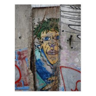 Cartão Postal Arte do muro de Berlim - Berlim, Alemanha