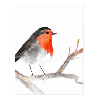 Cartão Postal Arte do Natal da pintura do watercolour do pisco