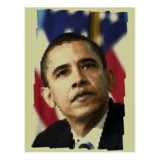 Cartão Postal Arte do pixel (pontos), Barack Obama