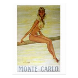 Cartão Postal Arte do poster de Nouveau da arte de Monte - de