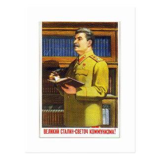 Cartão Postal arte do poster de stalin