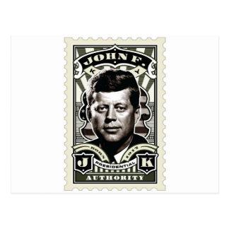 Cartão Postal Arte do selo do vintage de John F. Kennedy