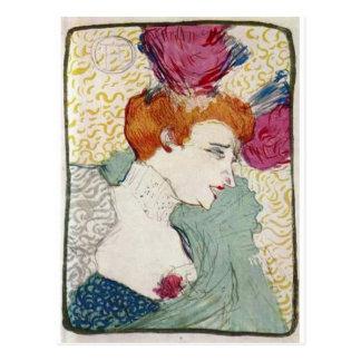 Cartão Postal Arte do vintage de Marcelle da senhorita de